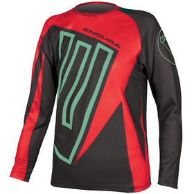 Endura MT500JR Long Sleeve Jersey Kids red